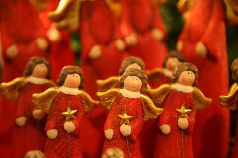 Julpynt på falbygdens julmarknad
