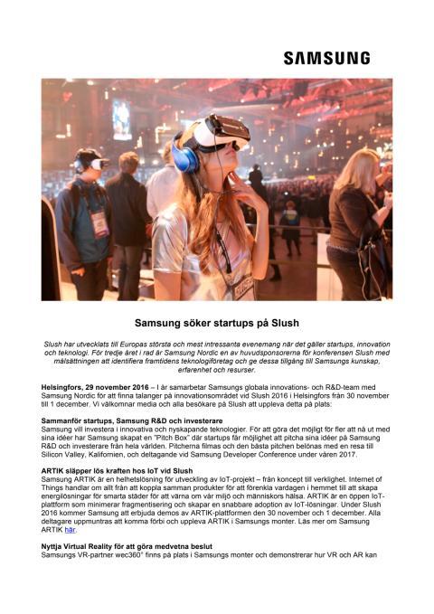 Samsung söker startups på Slush