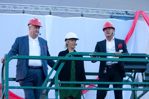 Stockholmsmässans nya huvudentré invigs