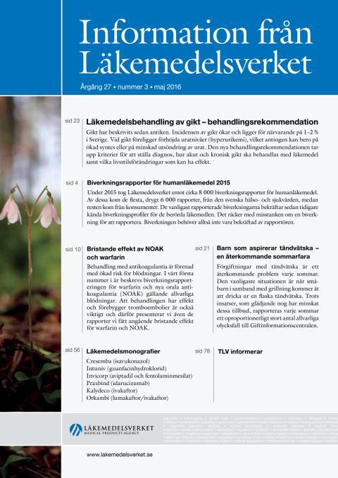 Information från Läkemedelsverket nr 3, 2016