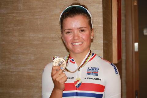 Susanne Andersen under sykkel-VM 2016