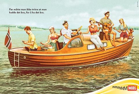 Mills majones sommerkampanje_båt