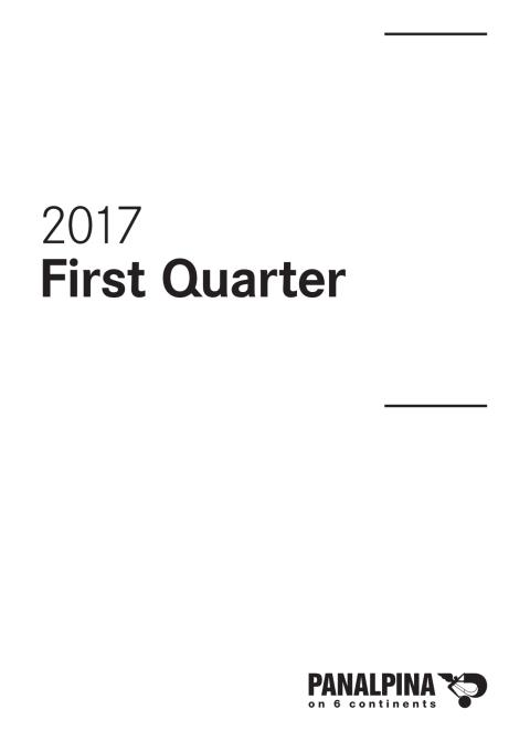 First Quarter Results 2017 – Consolidated Financial Statements