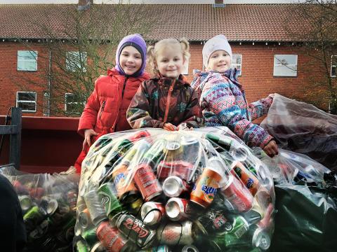 Skolebørn er vilde med at genanvende