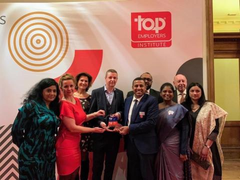 Tata Consultancy Services (TCS) koploper in Top Employer certificering