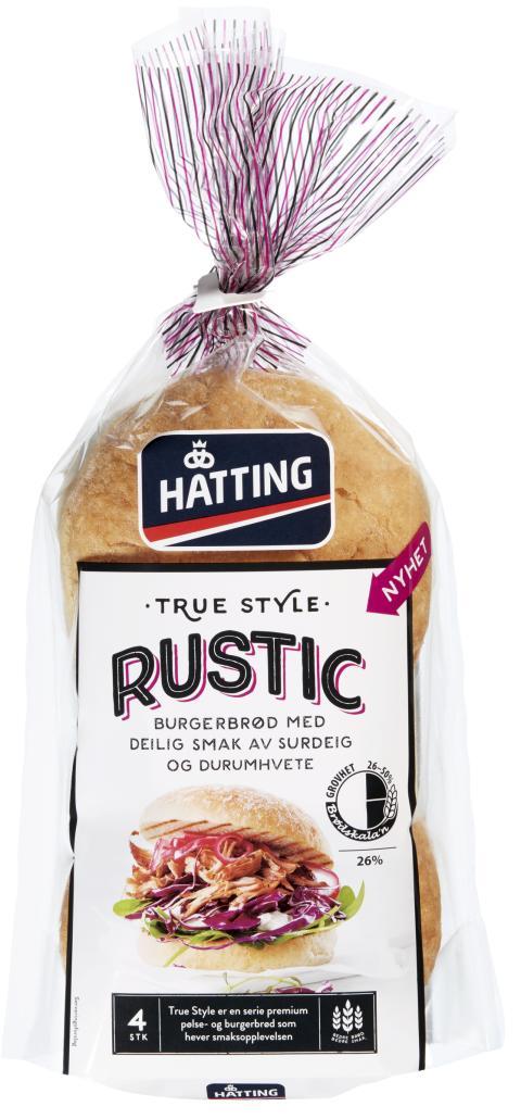 True Style Rustic hamburgerbrød