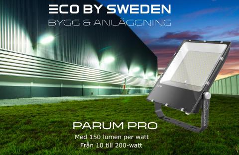 Bygg, anläggning och arenabelysning i LED - Parum PRO med 150 lumen per watt