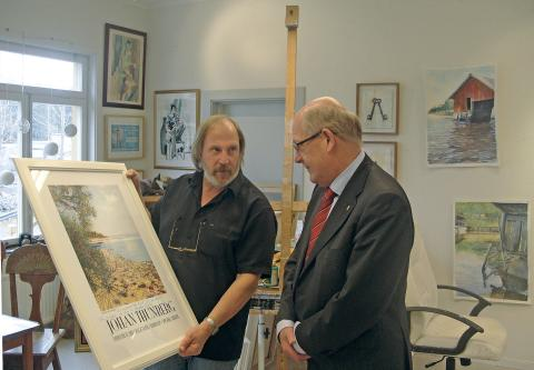 Landshövdingen uppskattar Johan Thunbergs konst