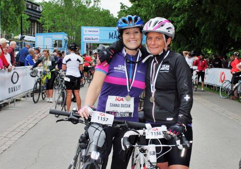 Många nöjda cyklister i årets Tjejvättern