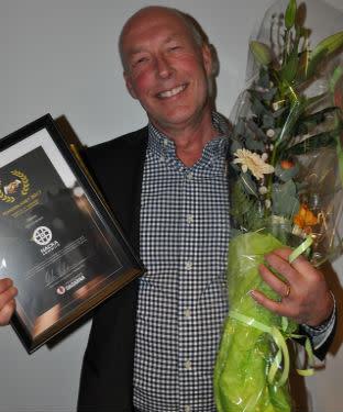 Kjell Lindström, Nacka kommun, vinnare av Handslaget 2017