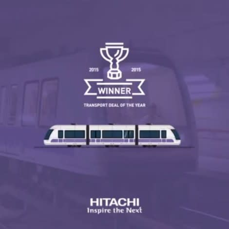 """Hitachi Rail Italy awarded the """"Project Finance International"""" for the Milan and Lima metro projects"""