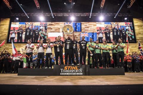 Nya Zeeland tog enkelt världsmästartiteln i Timbersports