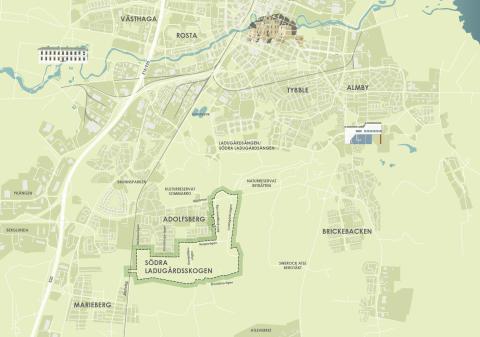 Planprogram för Södra Ladugårdsskogen – Adolfsberg