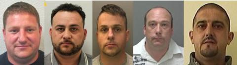 Five men jailed for multiple offences