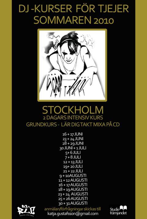 Imorgon startar den första av 21 dj-kurser för tjejer i Stockholm med Katja Gustafsson