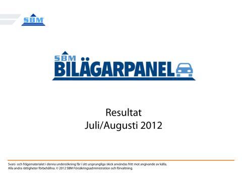 SBM Bilägarpanel, september 2012