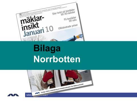 Mäklarinsikt januari 2010: Norrbotten