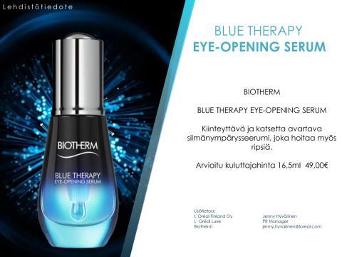Lehdistötiedote Biotherm Blue Therapy Eye Opening Serum