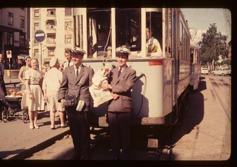 Historisk bilde fra Majorstuen 1960-tallet