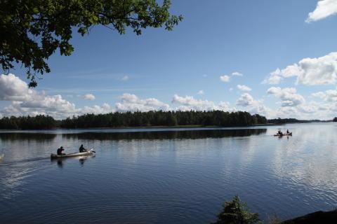 Kanotur på Getnö søen