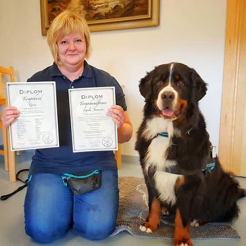 Sjöbo kommun har fått sin första diplomerade terapihund