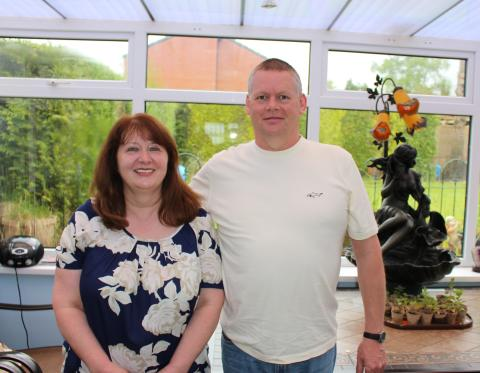 Jill and Glyn, who are long term foster carers for a young boy with some disabilities