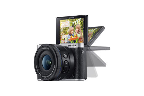 Tag et selfie ved at vinke til Samsung SMART Camera NX3000