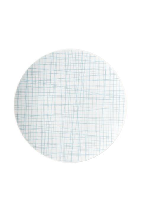 R_Mesh_Line Aqua_Plate 24 cm flat