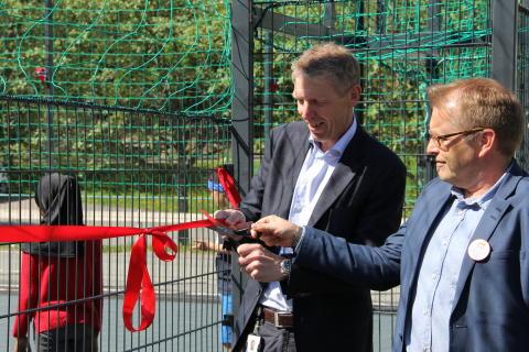 Klippet snor: Jon Carlsen og Håkon Kleven