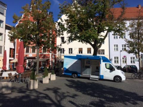 Beratungsmobil der Unabhängigen Patientenberatung kommt am 3. August nach Ingolstadt.