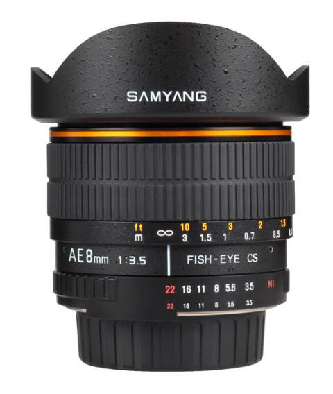 Samyang AE 8mm Nikon 4