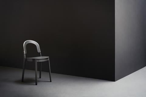 A Scandinavian café chair makes an entrance