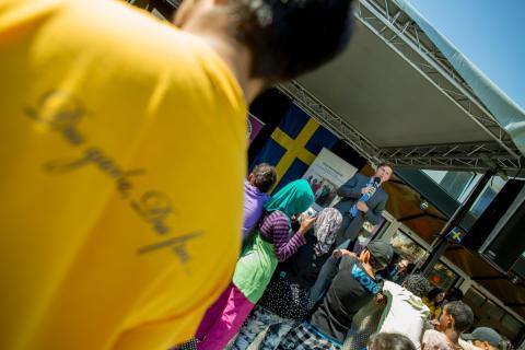 Nationaldagsfirande Rinkeby torg 2013