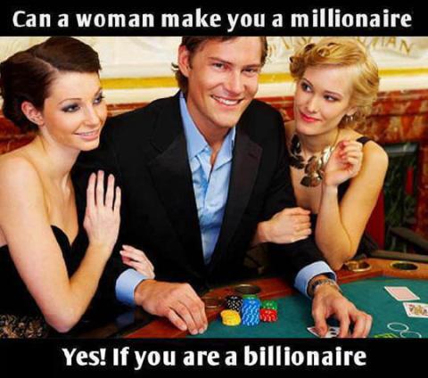 Så kan en kvinna enkelt göra en man till en miljonär!