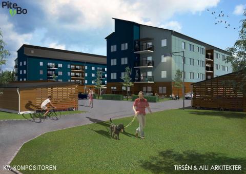 PiteBo och Lindbäcks tecknar avtal om bygge av bostäder i Blåbärsskogen
