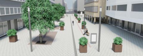 Oulussa laadittiin rakennussuunnitelma Kirkkokadulle välille Albertinkatu – Saaristonkatu