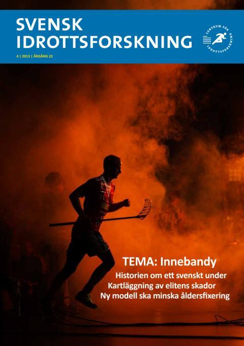 Innebandy under lupp i nytt nummer av Svensk Idrottsforskning