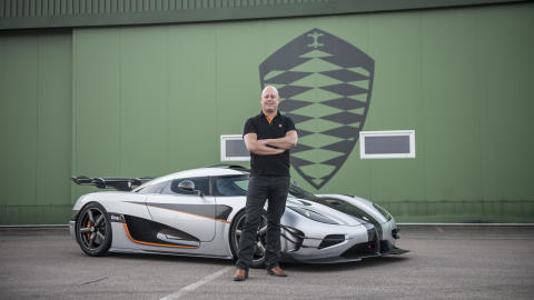 Christian von Koenigsegg and supercar One:1
