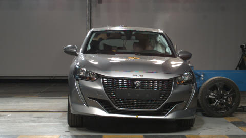 Peugeot 208 side crash test October 2019