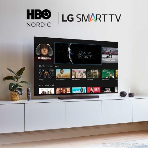 HBO Nordic – nu på alle LG TV med webOS