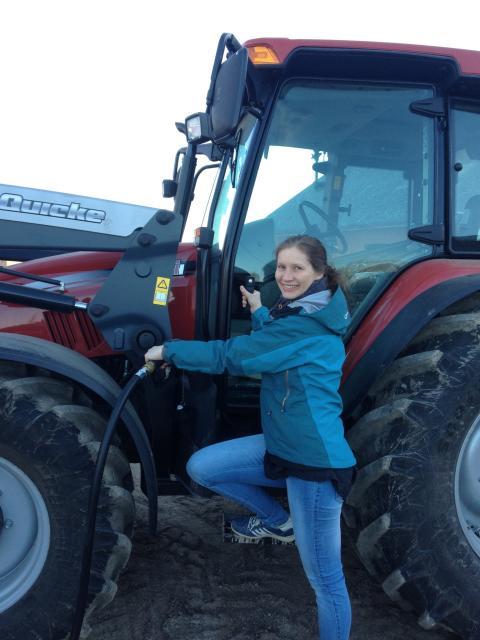 """Karin Varverud på Smedberga Backgård, en av de östgötska gårdarna som ingått i projektet """"Fossilfria lantbruk"""""""