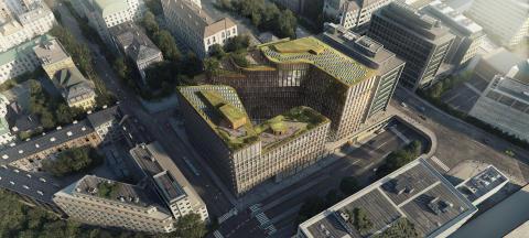 Det planlagte nybygget i Ruseløkkveien 26, sett ovenfra