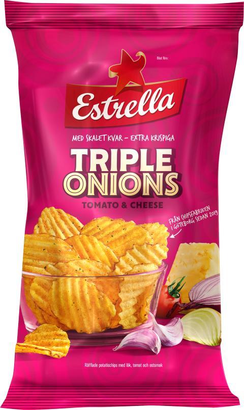 Triple Onions Tomato & Cheese från Estrella 2019