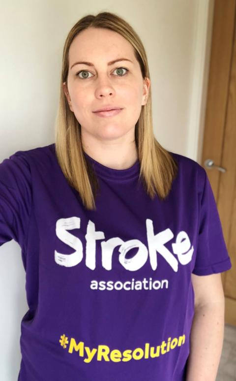 Nottinghamshire woman's Resolution to Run for Stroke Association following a stroke after she gave birth