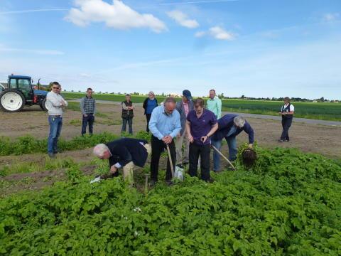 Politiker från Vellinge besökte lantbrukare