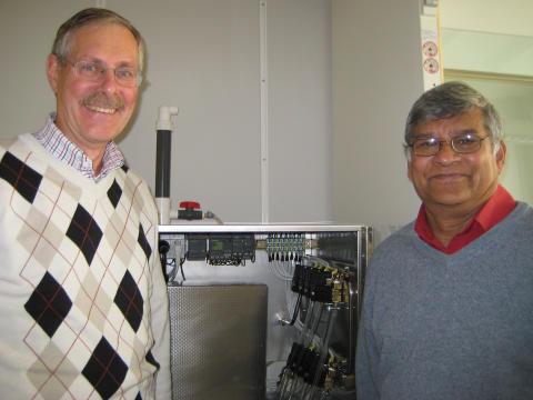 Orwar Eriksson och Sudhir Chowdhury