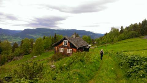 Pilger auf dem Gudbrandsdalsleden, einem der sechs Olavswege in Norwegen