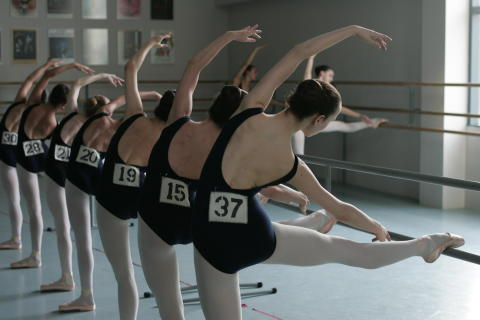 Ballet Girls at Barre