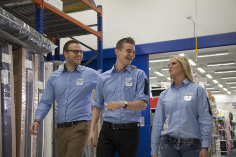 JYSK-medarbejdere er glade for deres arbejde