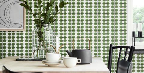 Designikonernas mönster tar plats på väggarna - Boråstapeter lanserar kollektionen Scandinavian Designers II